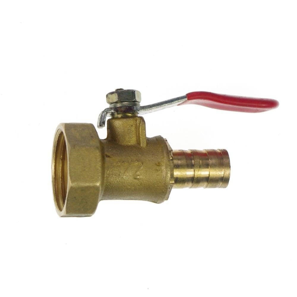 """10mm Hose barbed x 1/2"""" Female BSPP Connection Air Brass Pipe Ball Valve"""
