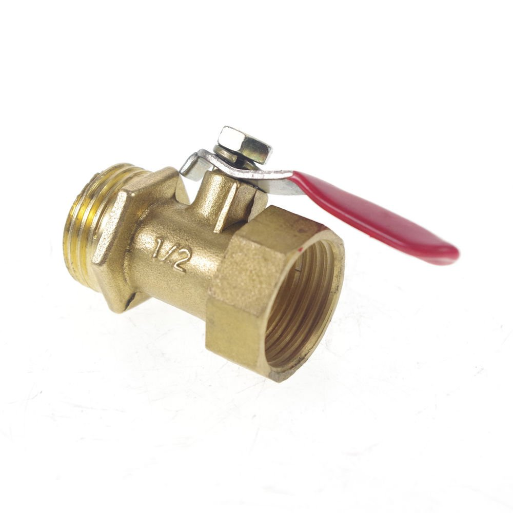"""1/2"""" BSPP Connection Air Male-Female Full Ports Brass Pipe Ball Valve"""