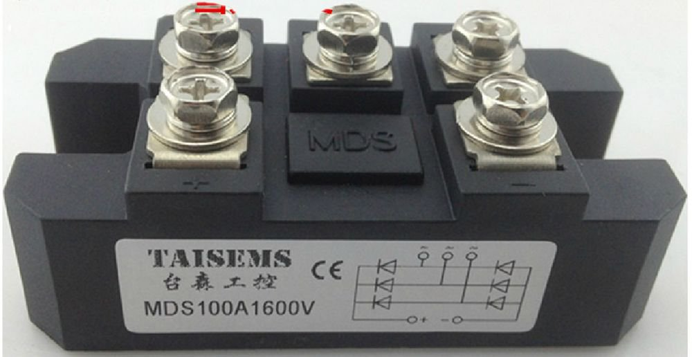 MDS100A 3-Phase Diode Bridge Rectifier 100A Amp 1600V