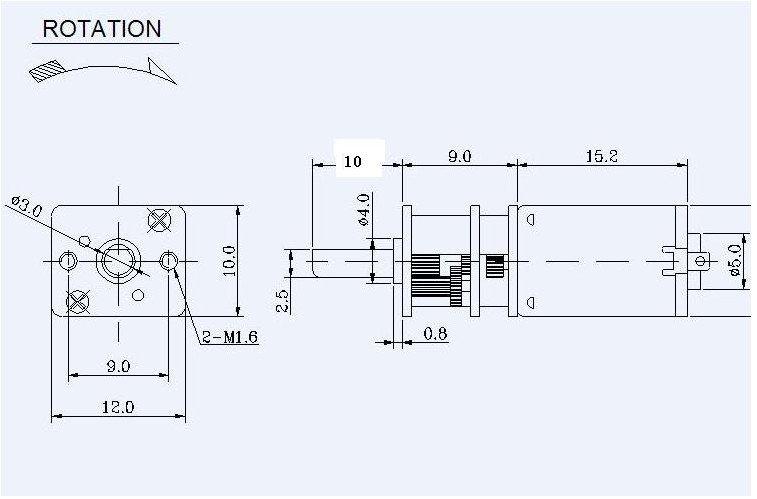 5PCS 12VDC 200RPM Geared Gearhead  DC Motor High Torque Output  JGA12-N20