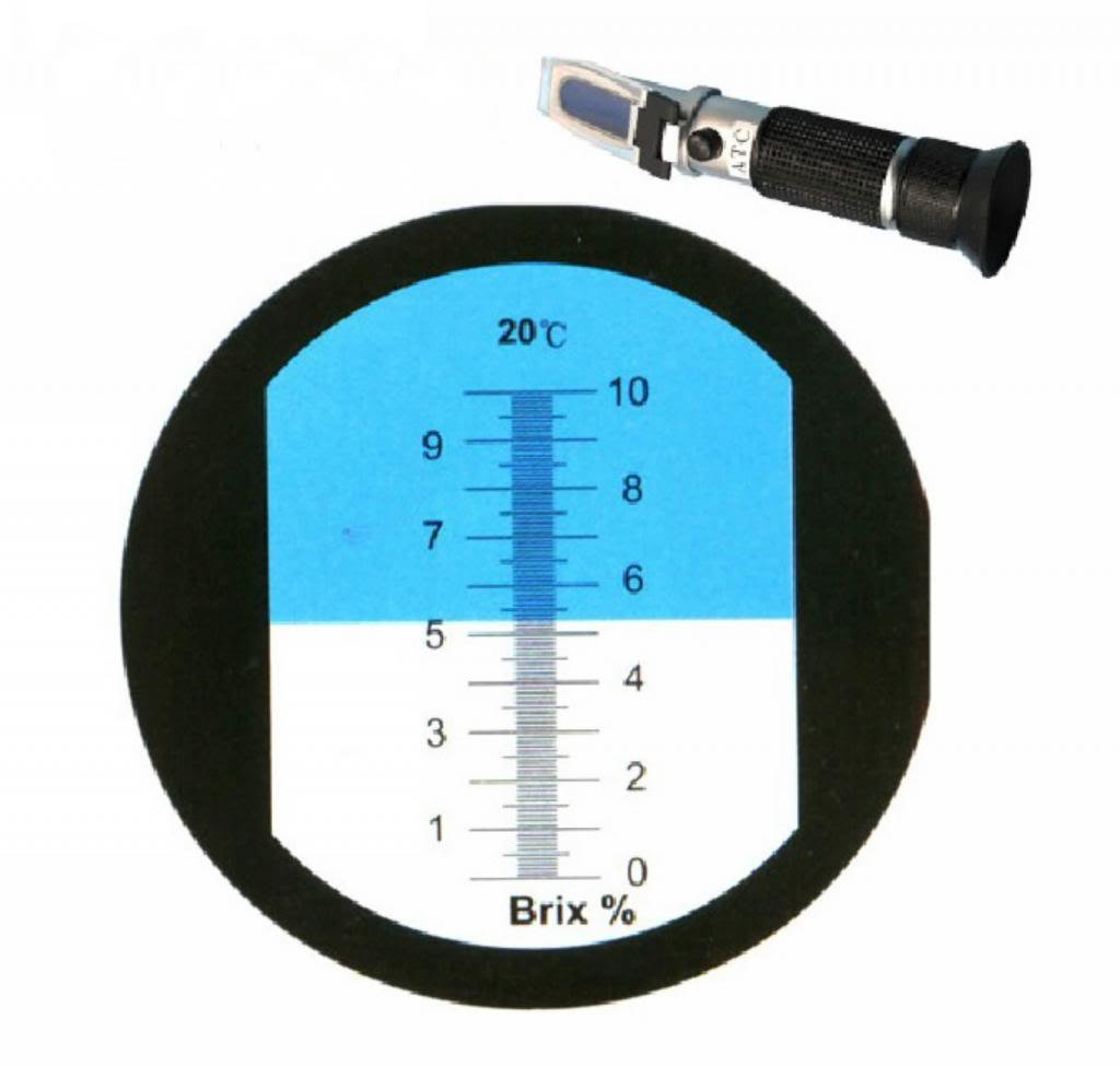 Chrome-plated brass Physical optics saccharimeter refract meter 0-10% Brix