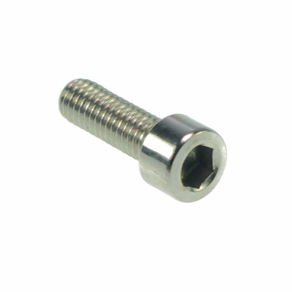 (50) Metric Thread M3*18mm Stainless Steel Hex Socket Bolt Screws