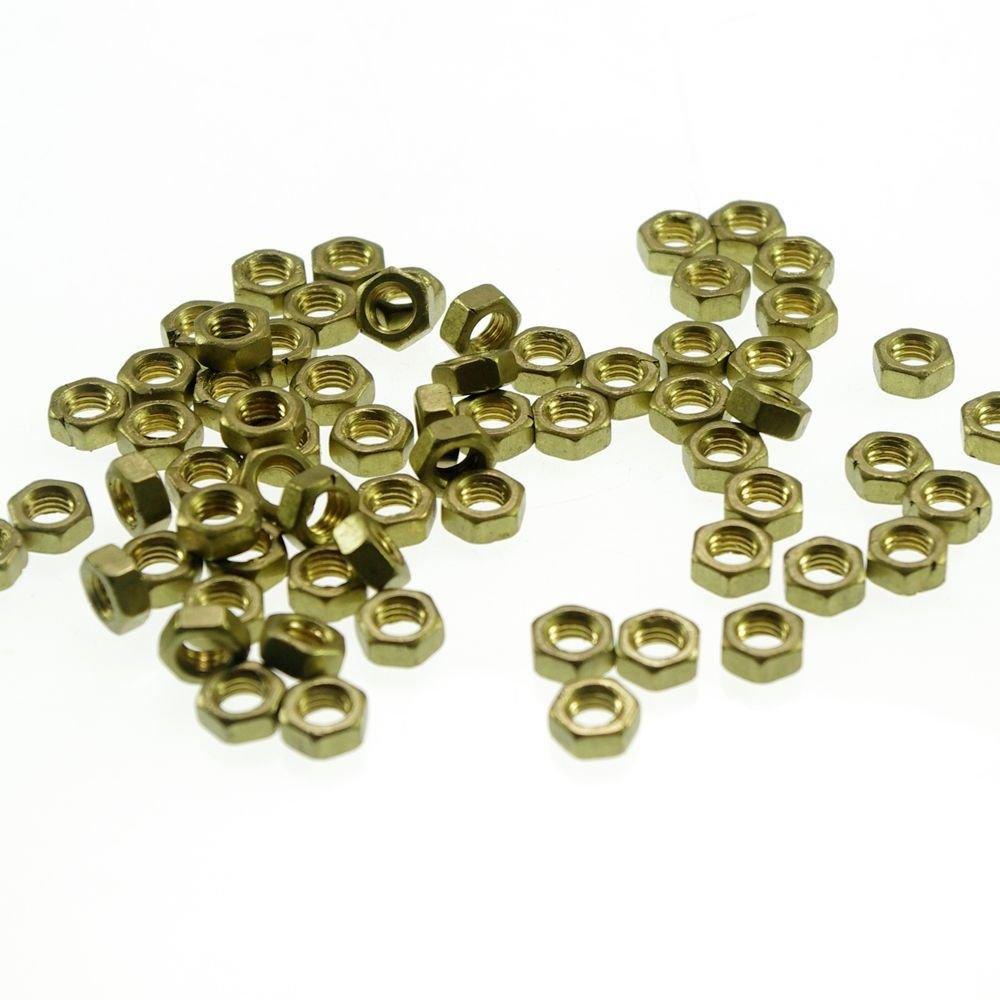 50pcs Metric Thread M2.5 Brass Hex Nuts Freeship To Worldwide