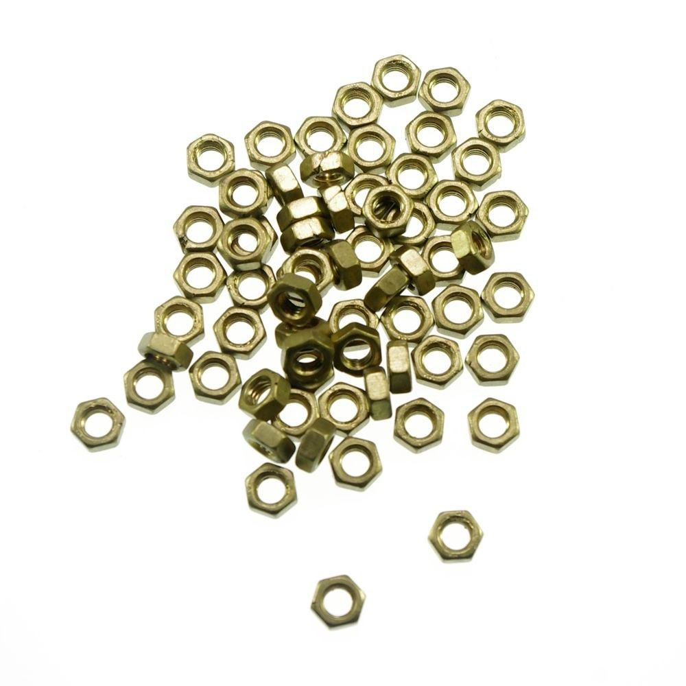 50pcs Metric Thread M2 Brass Hex Nuts Freeship To Worldwide