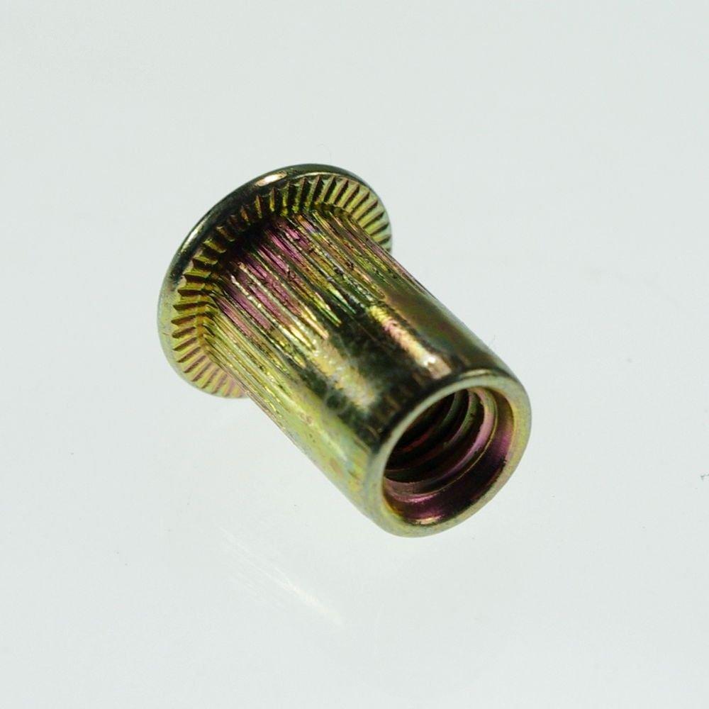 (50) Flat Head Metric Steel M4 Blind Insert Rivet Nut Rivnut Freeship