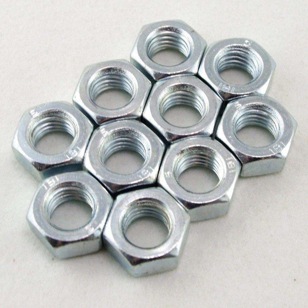2pcs Steel Metric M14x2mm Pitch Left Hand Thread Hex Nut Freeship