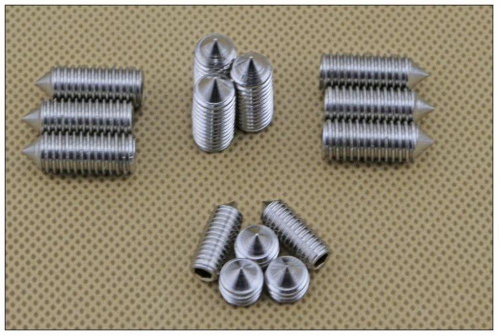 �100� M6*16mm 304 Stainless steel Hex Socket Set Screw grub screw Cusp head