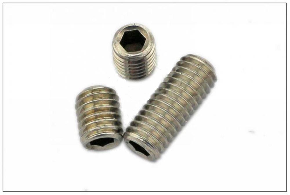 (100)M5*4mm 304 Stainless steel Hex Socket Set Screw grub screw Cup Point