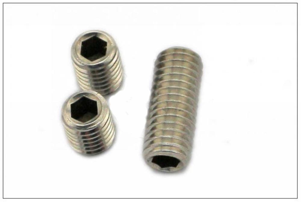 (100) M5*6mm 304 Stainless steel Hex Socket Set Screw grub screw Cup Point