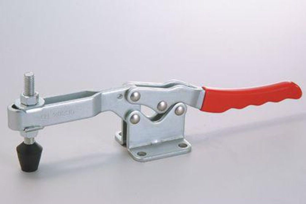Red Plastic Handle Metal Horizontal 340Kg Holding Toggle Clamp GH-20235
