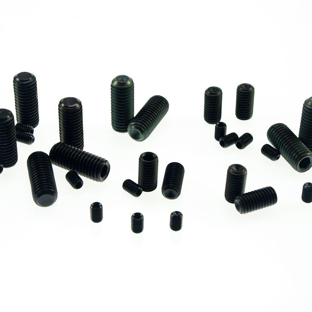 (100) M4x20mm Head Hex Socket Set Grub Screws Metric Threaded flat-head