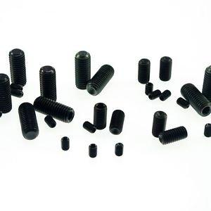 (100) M4x12mm Head Hex Socket Set Grub Screws Metric Threaded Cup Point