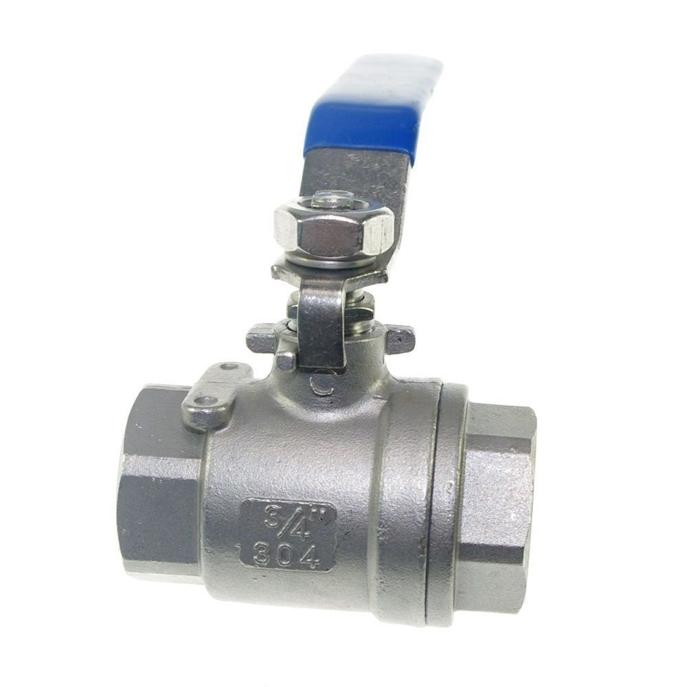 "(1)  DN20 G3/4"" Female Straight Full Ports 304 Stainless Steel Ball Valve"