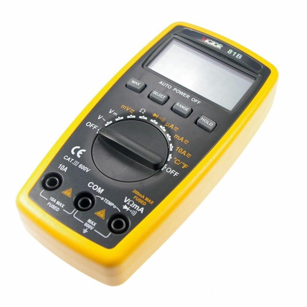 LCD Display  Ohmmeter AC DC Testing VICTOR 81B 3 1/2 Digital Multimeter