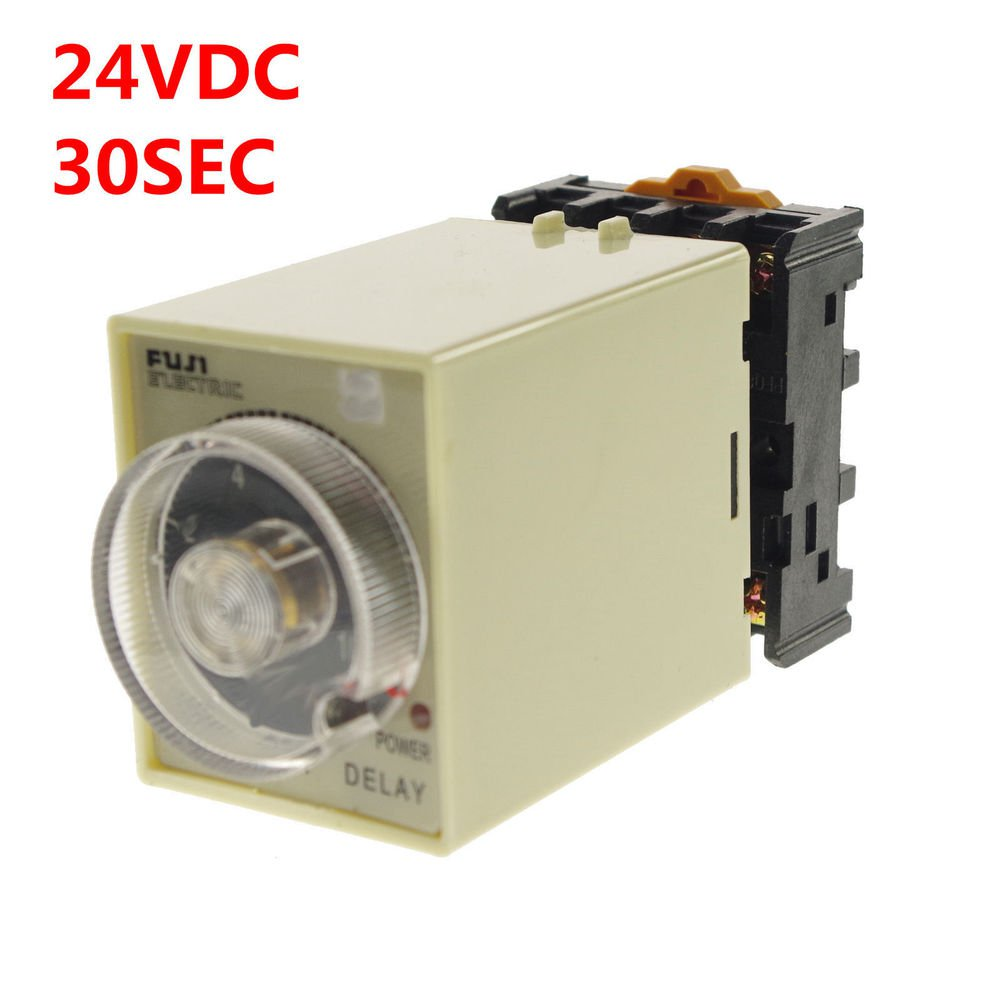 1PCS 1A 12VDC Power off delay time relay 0-30 seconds & Socket Base ST3PF
