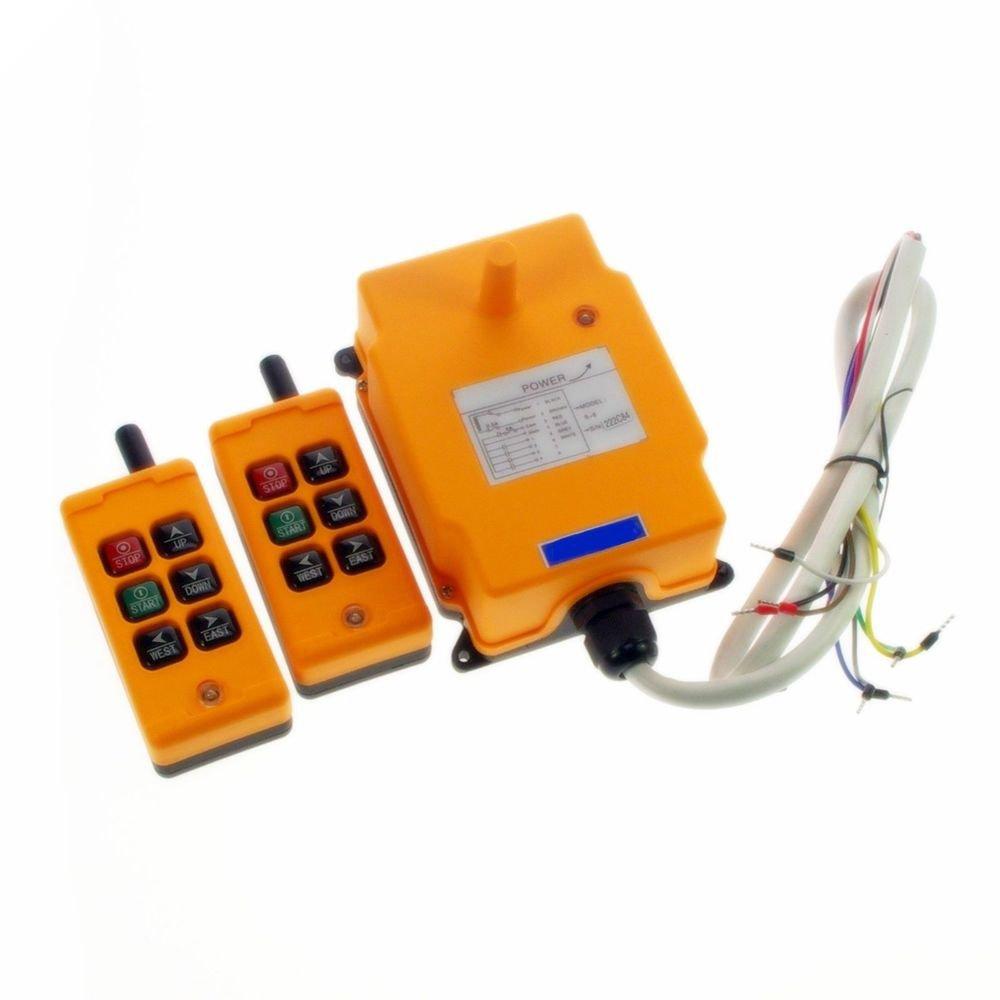 220V 2 Transmitters 2 Motions 1 Speed Hoist Crane Truck Remote Control System CE