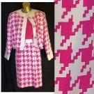 4 EXQUISITE 100% Silk STARINGTON Dress Suit Set Herringbone Demure Classy Career