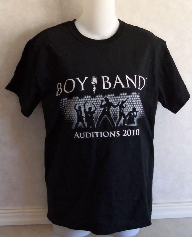 My Studio Boy Band Auditions 2010 Black T-Shirt Men's Short Sleeve Small 34