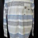 NEW Zoo York Men's 2XB Long Sleeve Blue Black White Stripe Cotton Dress Shirt