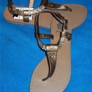NEW Yellow Box 6M Copper T Strap Leather Jewels Thong Sandals Shoes