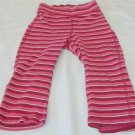 Old Navy 18 24 Month Burgundy Raspberry Rose White Striped Leggings Pants