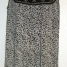 Max Edition Black White Sleeveless Boat Neck Stretchy Blouse Tunic Top Small 4 6