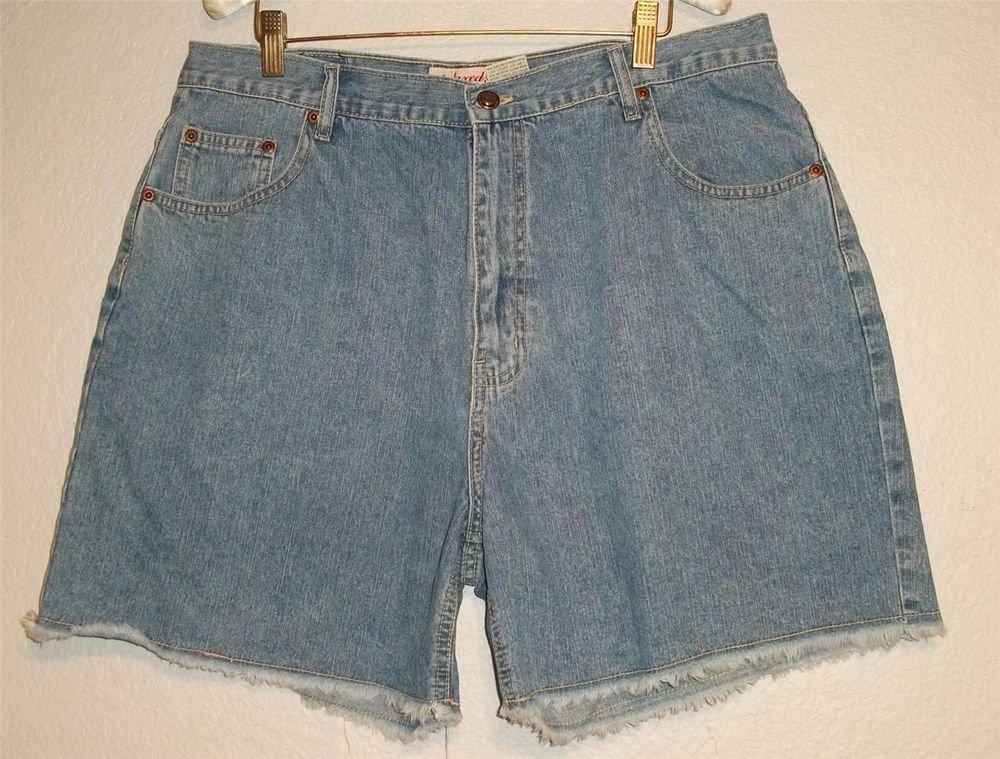 St John's Bay Boy's Sz 18 Waist 34 Med Wash Blue Denim Relaxed Fit Jean Shorts