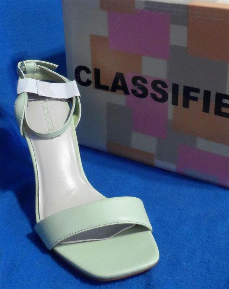 "NEW Classified Shoes Laugh Size 6 Medium B  3-1/2"" Heel Pale Mint Green Sandal"