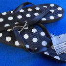 New 9 M Euro 40 envision studio Black White Polkadot Flip Flop Thong Sandal