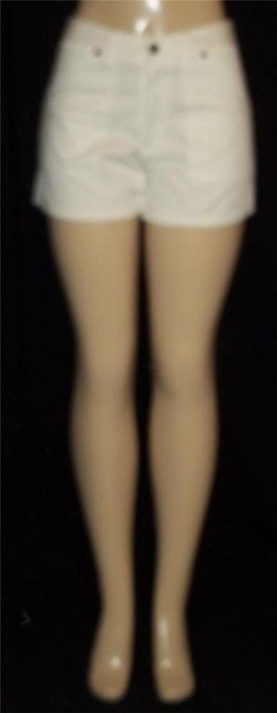 NEW P & S U.S.A. Junior Medium 7 9  Mid-rise White Short Shorts 100% Cotton