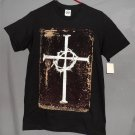 New Celtic Cross Thorns Christian Small Men's Black Cotton SS Graphic T-Shirt