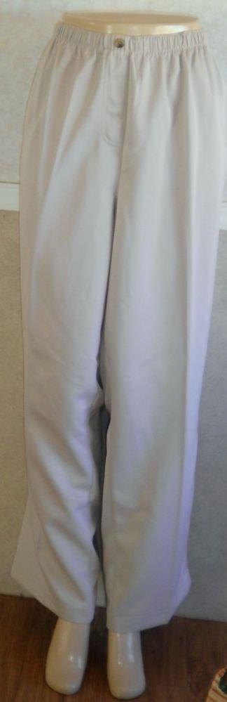 NEW Mountain Lake Woman Plus Short 22W 3X Elastic Waist Beige Career Pants