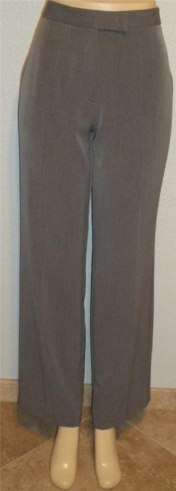 Sag Harbor Stretch 8 Medium M Gray Rayon Blend Career Dress Pants