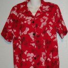 NEW Gloria Lance 1x 14w 16W Red Butterfly Print Faux 2 Piece Tank Blouse Shirt