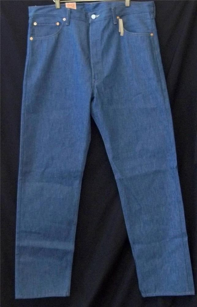 NEW Levi Strauss 501 Shrink to Fit W38 L34 Button Fly Light Wash Jeans Denim