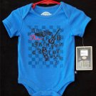NEW 3 6 Months Dickies Blue Alphabet design Short Sleeve One Piece Cotton Outfit