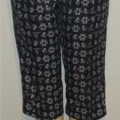 NEW Hillard & Hanson PM 8P 10P Navy White Nautical Cropped Pants Petite
