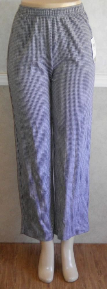 NEW Cathy Daniels Small 4 6 Gray Black Herring Bone Check Classic Career Pants
