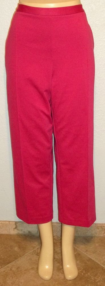 NEW Alfred Dunner Petite 18P PXL Stretch Pink Casual Career Pants