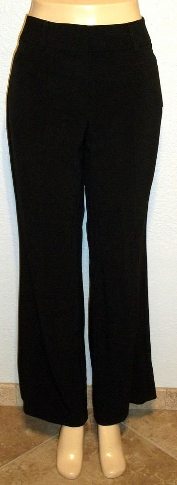 NEW Requirements 8 Average Medium Career Black Mid-rise Relaxed Pants
