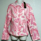 NEW Sara Studio PXL 16P 18P Petite Pink Paisley Print Top Jacket