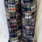 NEW Sara Studio Petite Small PS Patch Work Plaid Cotton Cropped Casual Pants