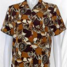 Liz Baker Petite 6P PS Petite Small SS Silky Buttoned Animal Print Career Blouse
