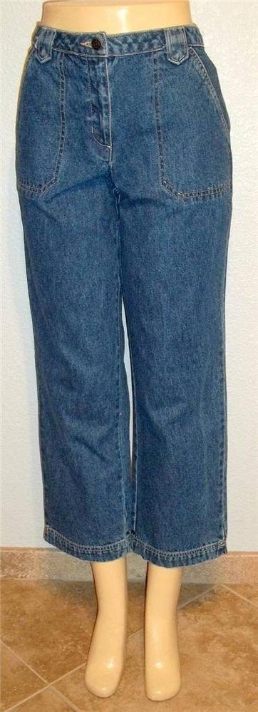 Crazy Horse Liz Claiborne 8 Medium Straight Leg Medium Wash Jeans
