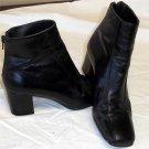 "Nine West 5-1/2 M B Black Ankle Zipper 2 1/2"" Chunky Heel Dress Boots"