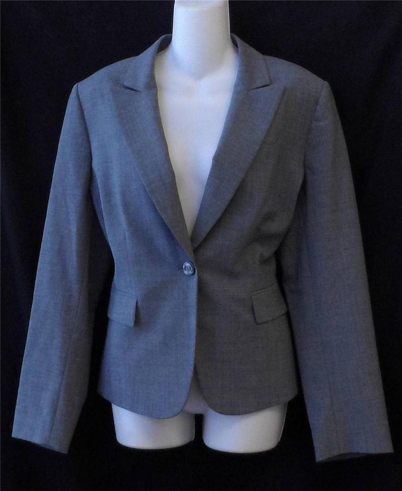 Antonio Melani 12 Large Steel Gray Professional Career Lined LS Blazer Jacket