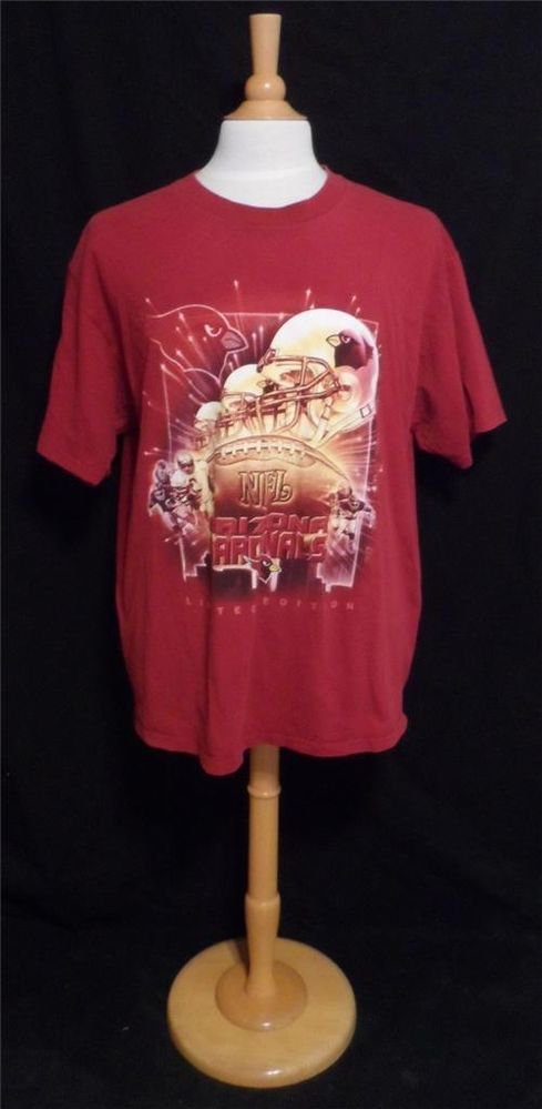 NFL XL Extra Large Arizona Cardinals Maroon SS Limited Edition T Shirt Football