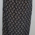 Vintage Studio Small 4 6  Navy Taupe White Floral Straight Long Elastic Skirt