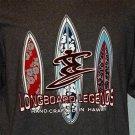 Sundog Longboard Legends Short Sleeve Gray Graphic Tee Men's Extra Large XL