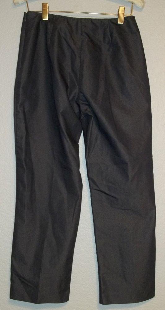 Ann Taylor Petites 4P Charcoal Gray Cotton Blend Career Pants Petite Small PS